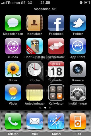 Skärmdump/Screenshot på din iPhone