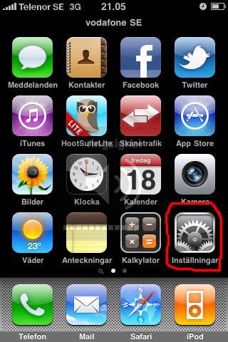 Guide: iPhone som 3G-modem/mobilt bredband - Inställningar