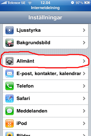 Guide: iPhone som 3G-modem/mobilt bredband - Allmänt