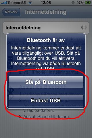 ipGuide: iPhone som 3G-modem/mobilt bredband - Internetdelning via Bluetooth och USB eller bara USB