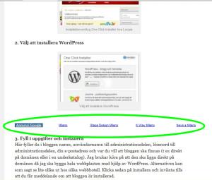 Google AdSense länkenhet mitt i artikeln