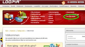 Installationverktyg One Click Installer hos Loopia