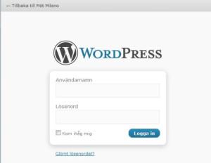Inloggningssida till din WordPress-blogg