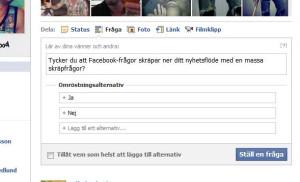 Facebook-frågor