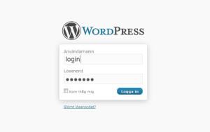 Logga in på din på din webbplats administrationsdel för WordPress.