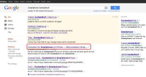 Titeln (även kallat Meta Title Tag) är den text som syns högst upp i webbläsarfönstret samt är det normalt denna text som syns i Googles sökresultat som sidans namn.